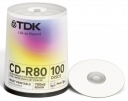 Диск CD-R TDK 700Mb 52x Cake Box Printable (100шт)