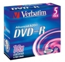 Диск DVD-R Verbatim 4,7Gb 16x Jewel Case (5шт)