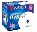 Диск DVD-R Verbatim 4,7Gb 16x Jewel Case Printable (10шт)